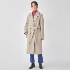 soft stitch belt wool coat_(1099092)
