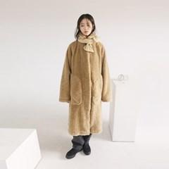 big pocket fur long coat (2colors)_(1099748)