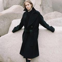 DOUBLE WOOL LONG COAT BLACK (WOMEN)