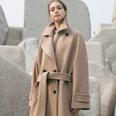 DOUBLE WOOL LONG COAT OATMEAL (WOMEN)
