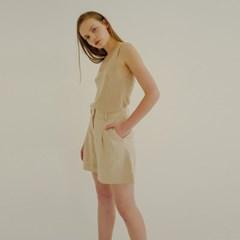 [로지에] 18ss high waist short pants beige