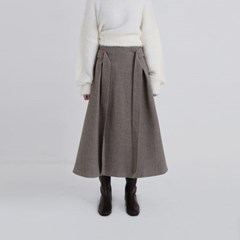 two pintuck tie skirt