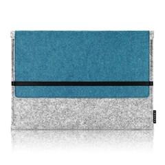 Sleeve for Macbook air & Macbook (Gray/Turkey Blue)