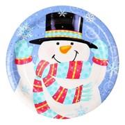 파티접시 눈사람-23cm (6입)