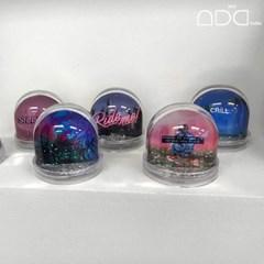 투명 양면포토 글리터 워터볼,스노우볼 홈데코 인테리어소품