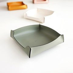Edge leather Tray - Square