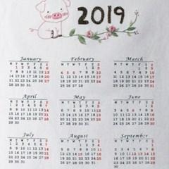[텐텐클래스] (안산) 귀여운 돼지와 2019 자수 패브릭