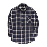 [제이온벨]캐주얼 타탄 체크 긴팔 셔츠 블루JB00028