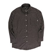 [제이온벨]캐주얼 잔 체크 긴팔 셔츠 브라운JB00049