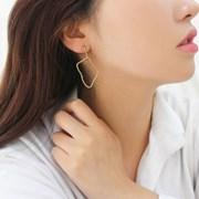 드로잉 프레임 모던 드롭 귀걸이