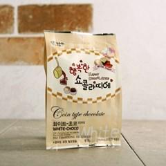 행복한 쇼콜라띠에 코인초콜릿 화이트 100g_(1167216)
