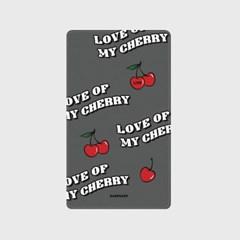 [어프어프]Love cherry-dark gray 보조배터리 mah2500/mah5000