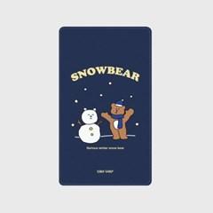 [어프어프]Snow bear-navy 보조배터리 mah2500/mah5000