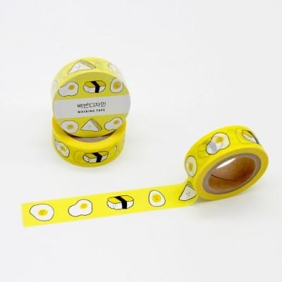 백반 마스킹테이프 - 계란 BB136