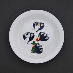 무민 법랑 접시(대 23cm)
