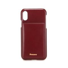 FENNEC LEATHER iPHONE X/XS POCKET CASE - WINE