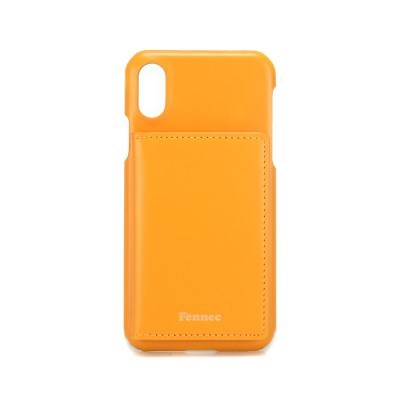 FENNEC LEATHER iPHONE X/XS POCKET CASE - MANDAIRIN