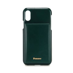 FENNEC LEATHER iPHONE X/XS POCKET CASE - MOSS GREEN
