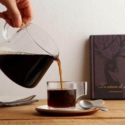 럭키글라스 유리 에스프레소 커피 핸즈샷잔 3oz.