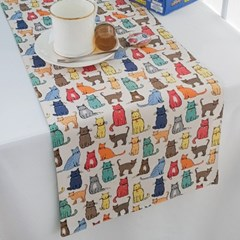 [울스터위버스] 고양이(Cat Walk) 식탁러너