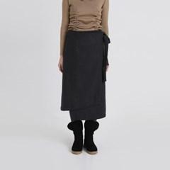 unbalance strap lap skirt (2colors)