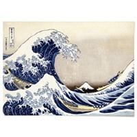 패브릭 포스터 일본 그림 거대한 파도 가츠시카 호쿠사이 no.2