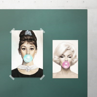 팝아트 풍선 포스터 (오드리햅번&마릴린먼로)
