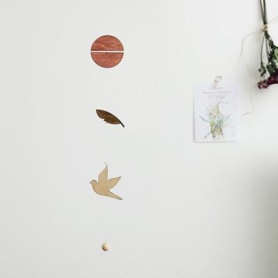 [위크앤드] 우드 인테리어 모빌-새-bird