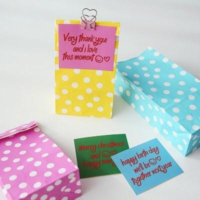 Polka Dot Paper Bag 폴카도트페이퍼백-스몰