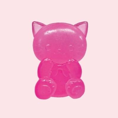 스퀴시 - 구미냥(고양이) 네온핑크 (일본정품 직수입)