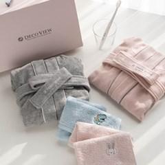 [선물세트]데코뷰 유아 목욕 선물세트(샤워가운+핸드타올)