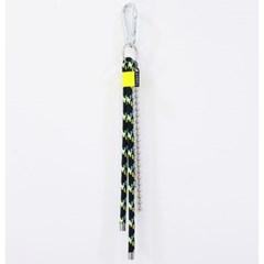 rope fluorescence keyring (black)