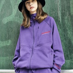 Diagonal Cut Emb Jacket_Purple