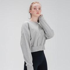 여성운동복 스웨트 크롭 맨투맨 DFW5016 그레이