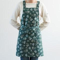 크로스 에이프런 ver.2 - 02 Lace flower(린넨)