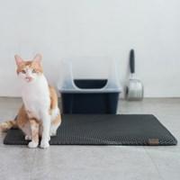 묘심 고양이 화장실 매트 블랙홀리터매트 특대 블랙 90x65