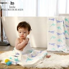 테리파머 토토리_고래프렌즈 양면 친환경 아기목욕타올 1장 속싸개