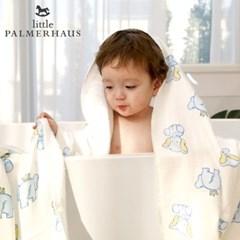 테리파머 토토리_엘리펀트 양면 아기목욕타올 1장 신생아목욕타올