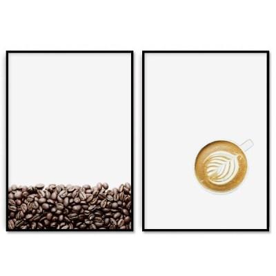 패브릭 포스터 카페 인테리어 그림 액자 커피콩