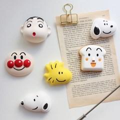 캐릭터 차량용 석고방향제/스누피/호빵맨/식빵맨/짱구