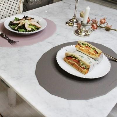 국산 다각형 실리콘 식탁매트 4color
