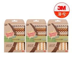 [3M]내츄럴 망사수세미+그물망사수세미(일반세척용) 3개_(1613241)