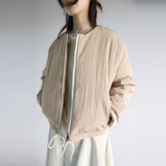 mild string short padding (beige)_(1118512)