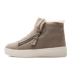 kami et muse Side zipper fur ankle boots_KM18w292