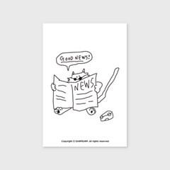 [어프어프] 엽서 Paper cat