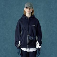 [Ncover] Color block hoodie zipup-navy
