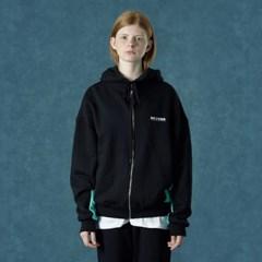 [Ncover] Color block hoodie zipup-black