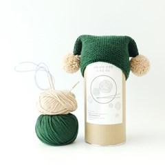 니팅키트- 신생아 사이드 폼폼 모자
