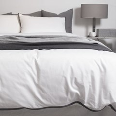 Dark Lining White Bedding Set _K