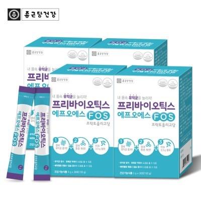 [종근당건강] 프리바이오틱스 FOS 4박스 120포(총4개월분)